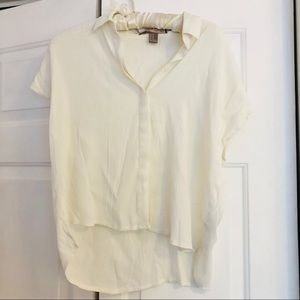 4/ $25 Forever 21 short sleeve off white blouse